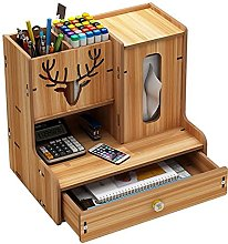 BCLGCF Wooden Desk Top Organizer, Multi-Functional