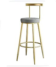 BCLGCF Wrought Iron Bar Stool Chair, PU Leather