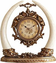 bdb Double-sided Dial Mantle Clock Resin Desk