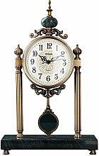 bdb Marble Base Mantle Clock With Pendulum Antique