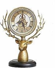 bdb Transparent Dial Mantle Clock Solid Wood Base