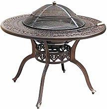 Bdeng Fire Pits, Multi-Functional BBQ Desk -