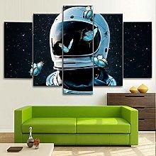 BDFDF Framed Wall Art 5 Piece Canvas Art Astronaut