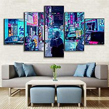 BDFDF Framed Wall Art 5 Piece Canvas Art City