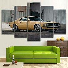 BDFDF Framed Wall Art 5 Piece Canvas Art Forrd