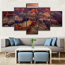 BDFDF Framed Wall Art 5 Piece Canvas Art Grand