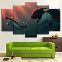 BDFDF Framed Wall Art 5 Piece Canvas Art Killer