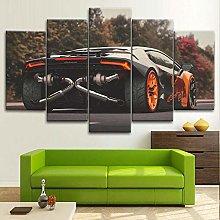 BDFDF Framed Wall Art 5 Piece Canvas Art