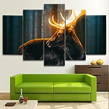 BDFDF Framed Wall Art 5 Piece Canvas Art Magical