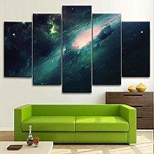 BDFDF Framed Wall Art 5 Piece Canvas Art Milky Way
