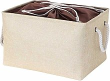 BDFH Cotton Linen Storage Box Clothing Foldable