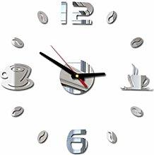 Bdhbeq DIY Big Frameless Wall Clock Giant Modern
