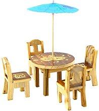 bdrsjdsb 6Pcs/Set Min Fairy Wooden Desk Chair