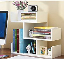 BDwantan Bookcase Table Small Bookshelf Kids Desk