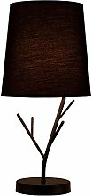 BDwantan Desk lamp LED Wrought Iron Twig Fabric