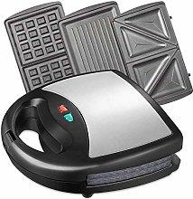 BDwantan Waffle Maker, 800W Deep Fill 3-in-1