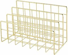 BDwantan Wrought Iron Bookshelf with Three