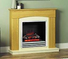 Be Modern Linmere Oak Surround Almond Stone Hearth