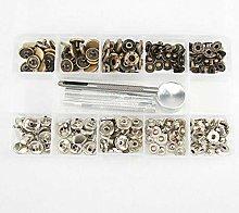 BE-TOOL Snap Button, 50pcs Sewing Snap Metal Press