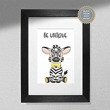 Be Unique - Zebra Print | Nursery Art Wall | Kids