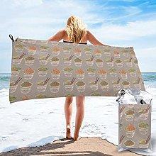 Beach Bath Towel Egg Cup Noodle Ramen Quick Dry