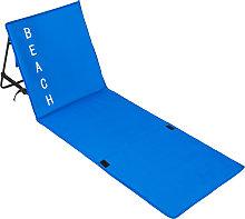 Beach mat with backrest - blue