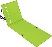 Beach mat with backrest - green