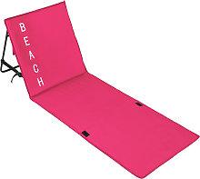 Beach mat with backrest - pink