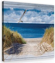 Beach Photographic Print on Wrapped Canvas in