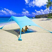 Beach Sunshade Tent Canopy with Sand Anchor