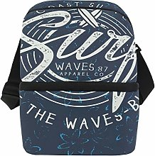 Beach Surf Insulated Lunch Bag for Women Men Adult