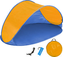 Beach tent Jasmin - blue/orange