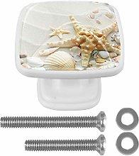 Beach with Starfish and Seashells Sand Drawer Knob