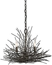 Beachmount 3-Light Candle Style Chandelier Red