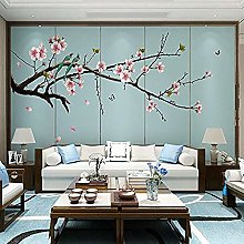 Beaming Flowers and Birds New Chinese Sofa Paper