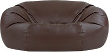 Bean Bag Bazaar - Faux Leather Loveseat Sofa Bean
