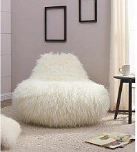 Bean Bag Chair Norden Home Upholstery Colour: White