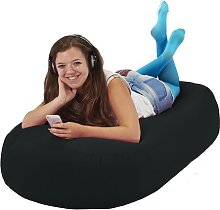 Bean Bag Sofa Symple Stuff Upholstery Colour: Black