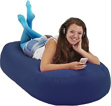 Bean Bag Sofa Symple Stuff Upholstery Colour: Blue