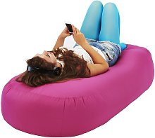 Bean Bag Sofa Symple Stuff Upholstery Colour: Pink