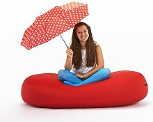 Bean Bag Sofa Symple Stuff Upholstery Colour: Red