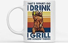 Bear Drinling Beer That's What I Do I Drink I