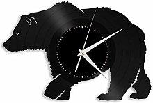 Bear vinyl wall clock, vinyl record home