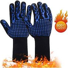 Bearsu - 1 Pair Heat Resistant Barbecue Gloves  