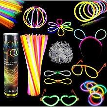 Bearsu - 100 Fluorescent Light Sticks Bracelets