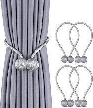 Bearsu - 2 Pack Magnetic Curtain Tiebacks Drapery