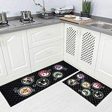 Bearsu - 2 Piece Non Slip Kitchen Rug TPR Non Skid