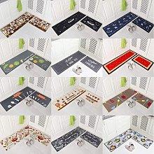 Bearsu - 2 Pieces Non Slip Kitchen Mat Set Rubber