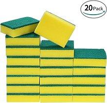 Bearsu - 20 Pack Multi-Use Heavy Duty Scrub Sponge