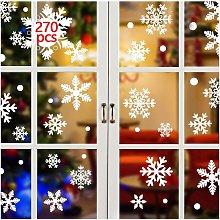 Bearsu - 270pcs Snowflakes Window Stickers